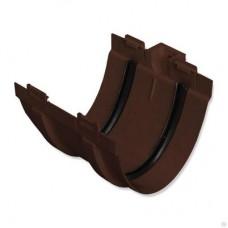 Муфта желоба ПВХ Стандарт коричневая