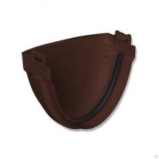 Заглушка к желобу ПВХ Cтандарт коричневая